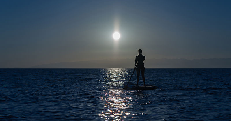 Stay Safe By Wearing A Headlamp For Night Surfing and Paddle Boarding