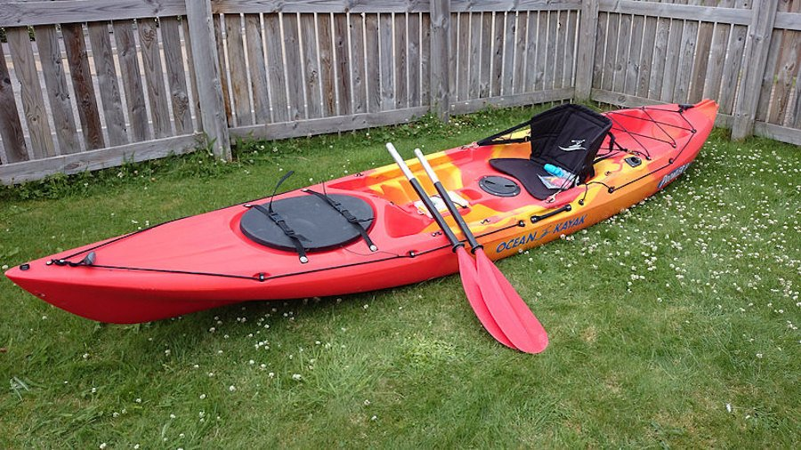 Red set of Ocean Kayak Prowler 13