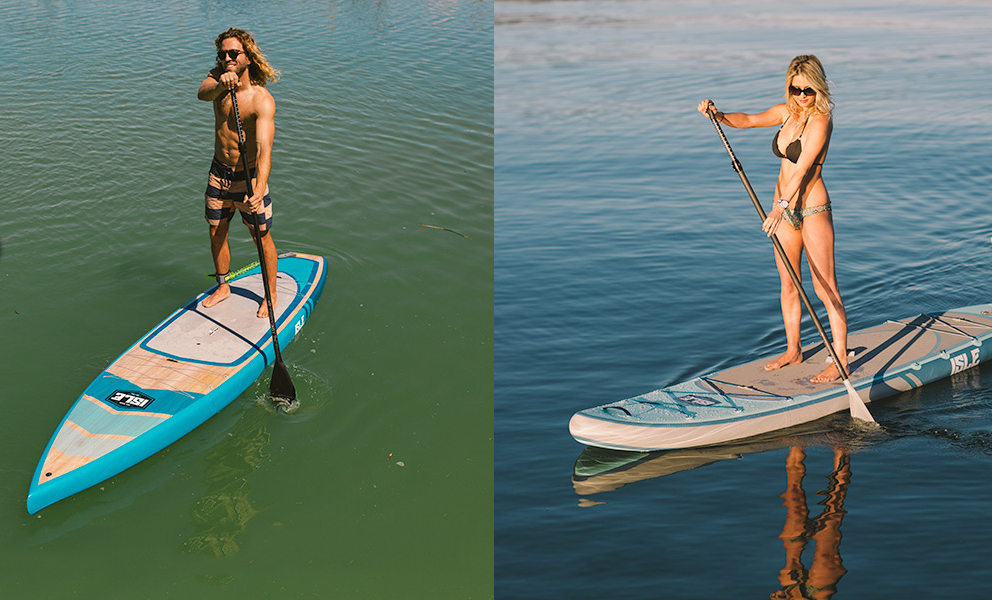 Man and woman on SUP